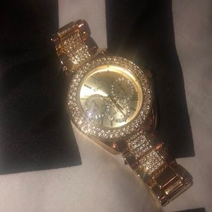 Bebe diamond studded watch